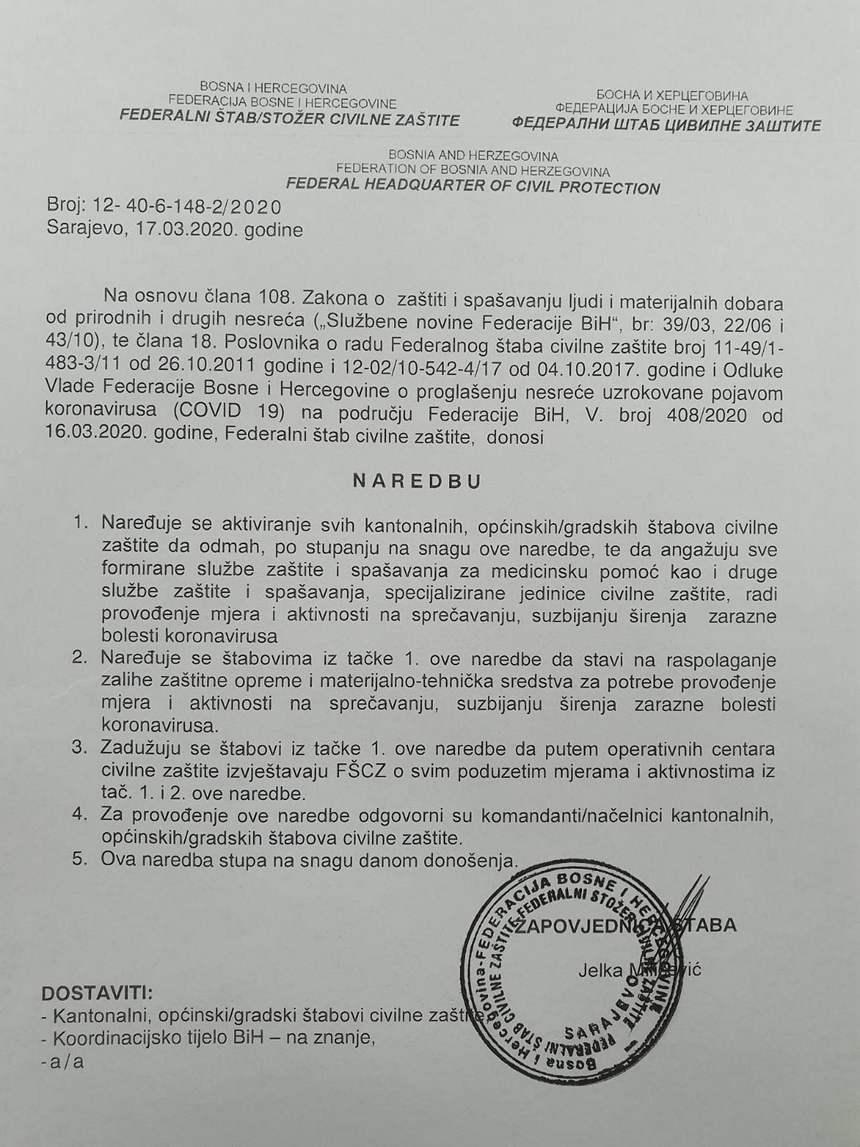 naredba civilna zaštita