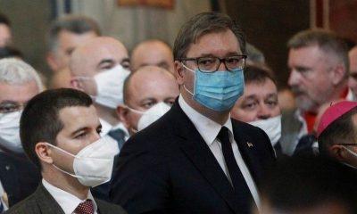 Vučić na sahrani Amfilohija